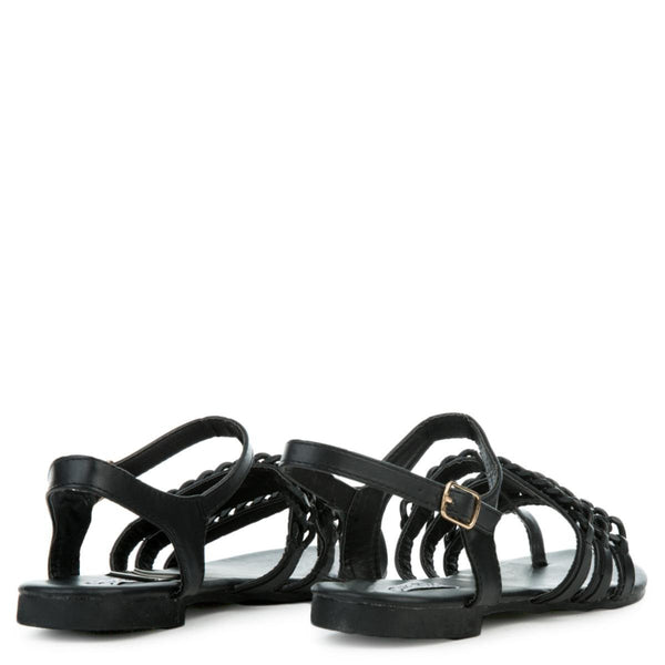 Cape Robbin Cash-4 Women's Black Sandals