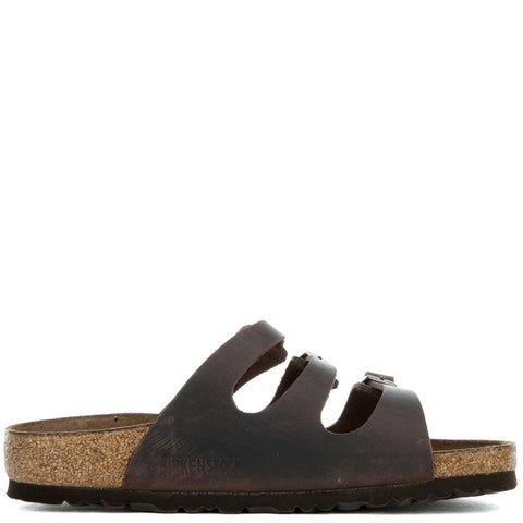 Women's Regular Florida Habana Oiled Leather Brown Sandal
