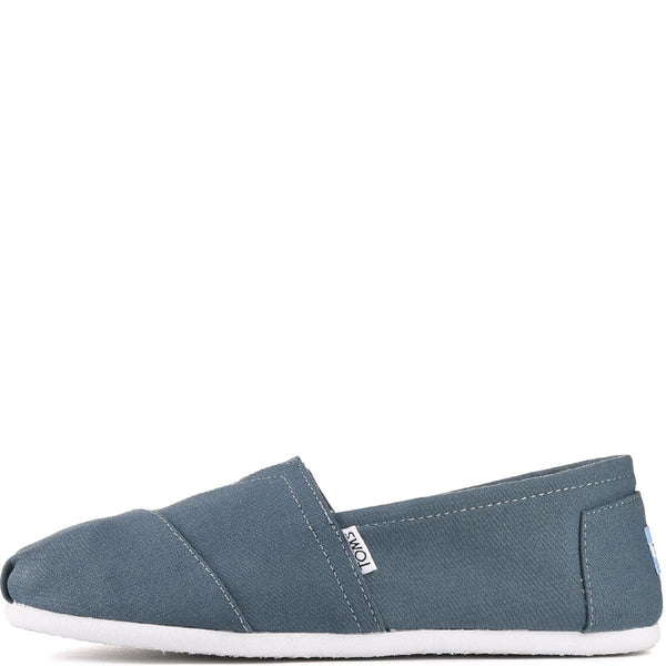 Toms for Men: Classic Balsam Teal Canvas Flats