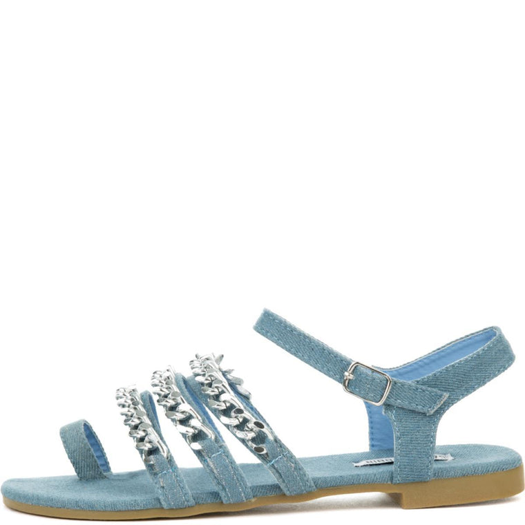 Cape Robbin Women's Cash-4 Blue Sandals