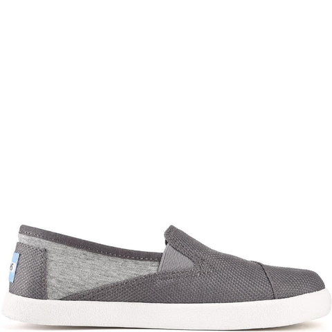 Toms for Kids: Avalon Grey Jersey/Mesh Slip-Ons