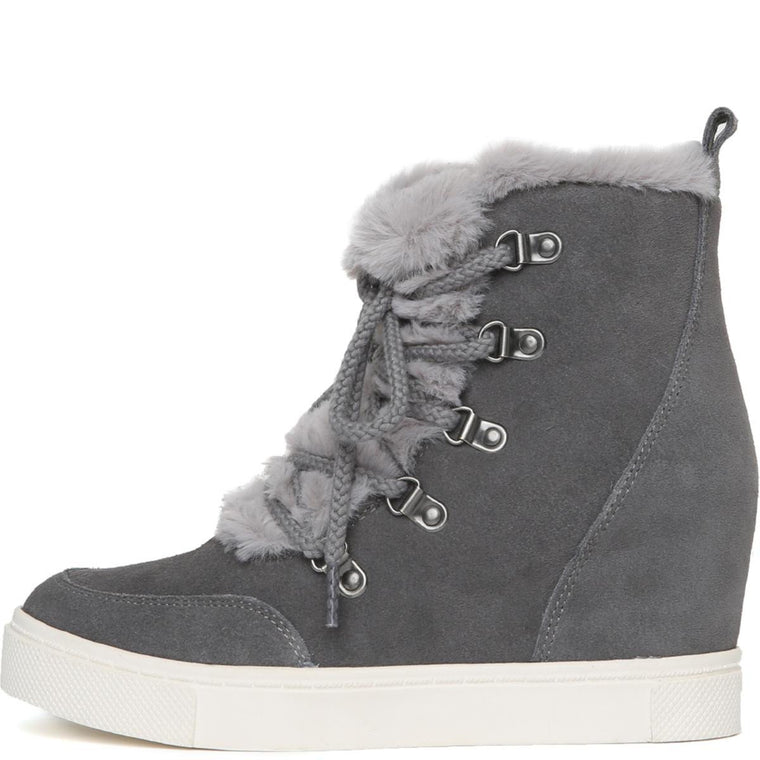 Steve Madden for Women: Lift Grey Wedge Boots