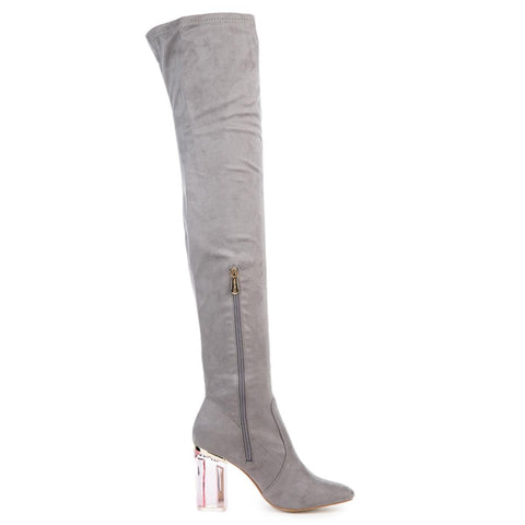 Cape Robbin Women's Fay-2 Grey High Heel Boot