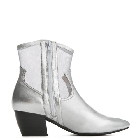 Jeffrey Campbell for Women: Inigo Silver Heel Booties