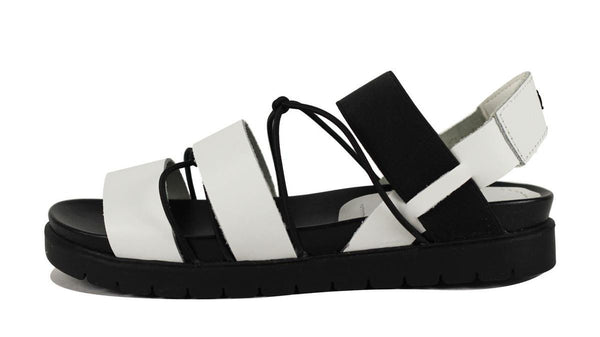 MIA Heritage for Women: Sea White Leather Sandal