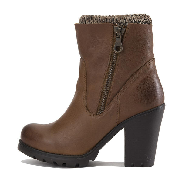 Steve Madden for Women: Sweaterr Cognac Leather Heel Boots