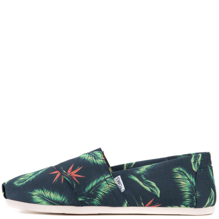 Toms for Men: Classic Navy Canvas Birds of Paradise Flats