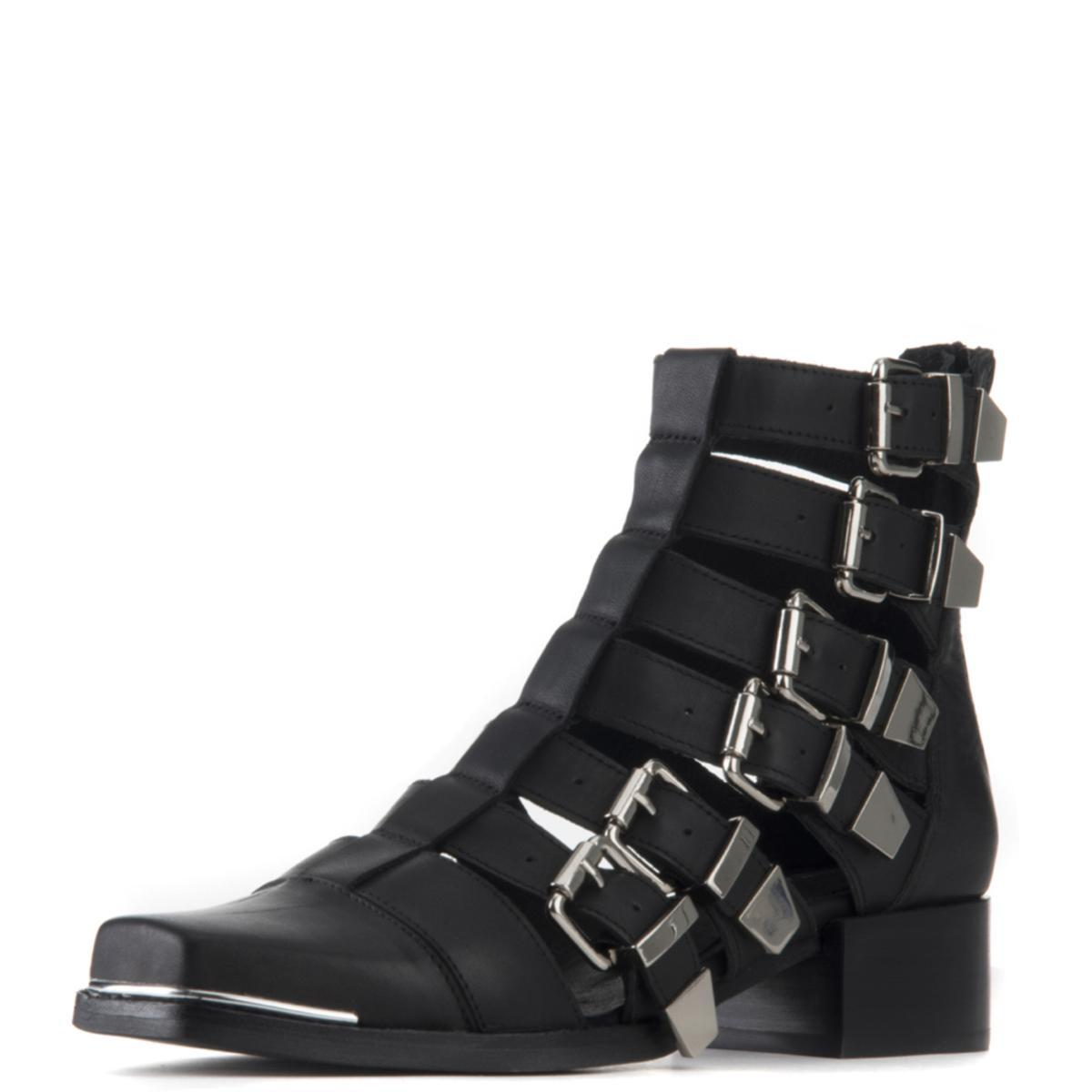Jeffrey Campbell for Women: Destructa Black Heel Booties