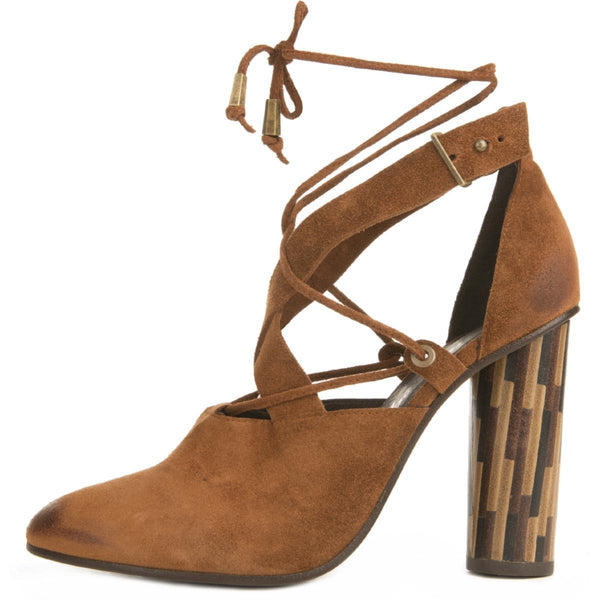 Free People for Women: Nouvella Wrap Brown Heels