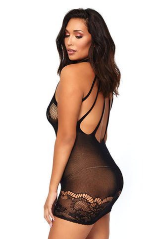 Women's Seamless Floral Lace Opaque Mi