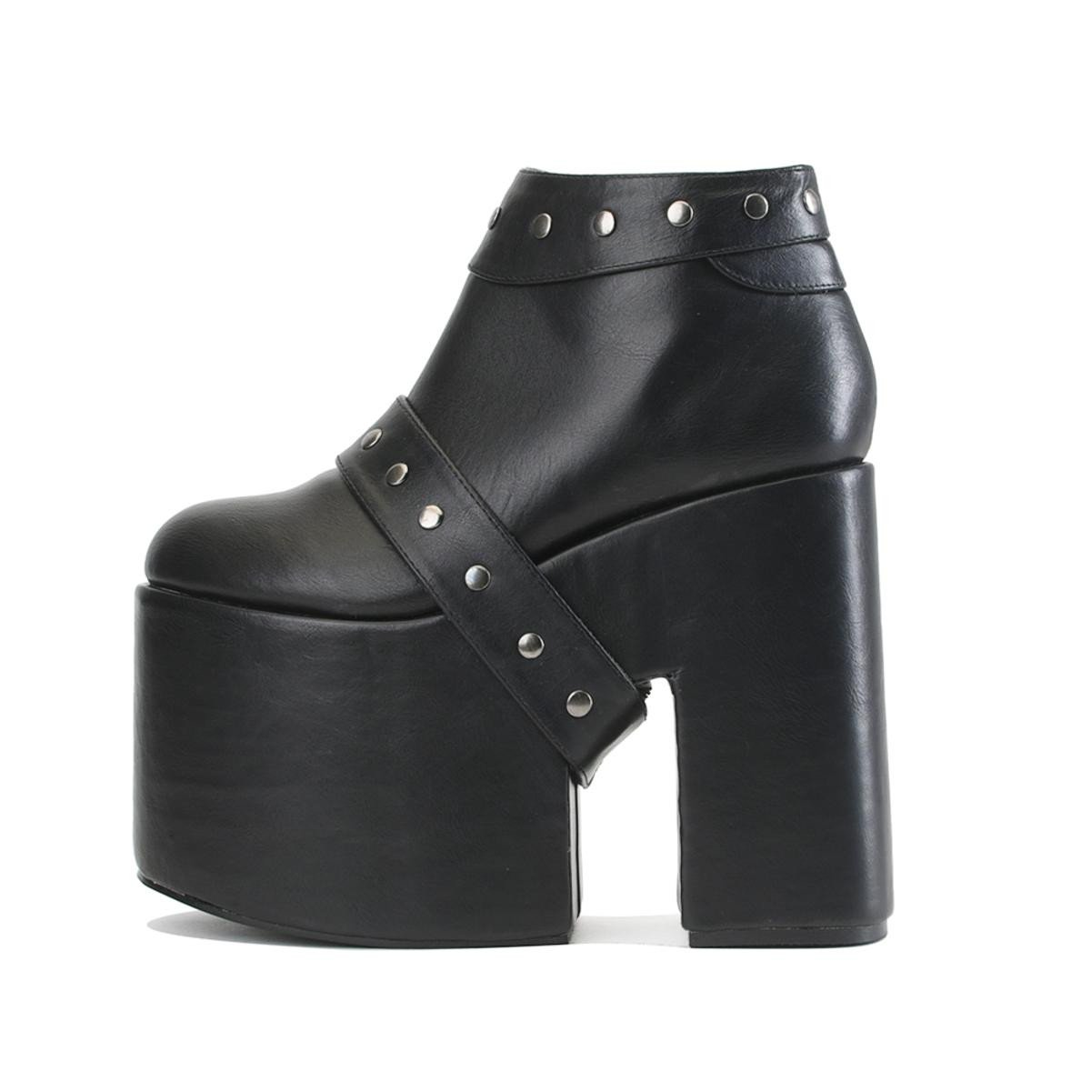 Women's Up Black Platform Heel Boot