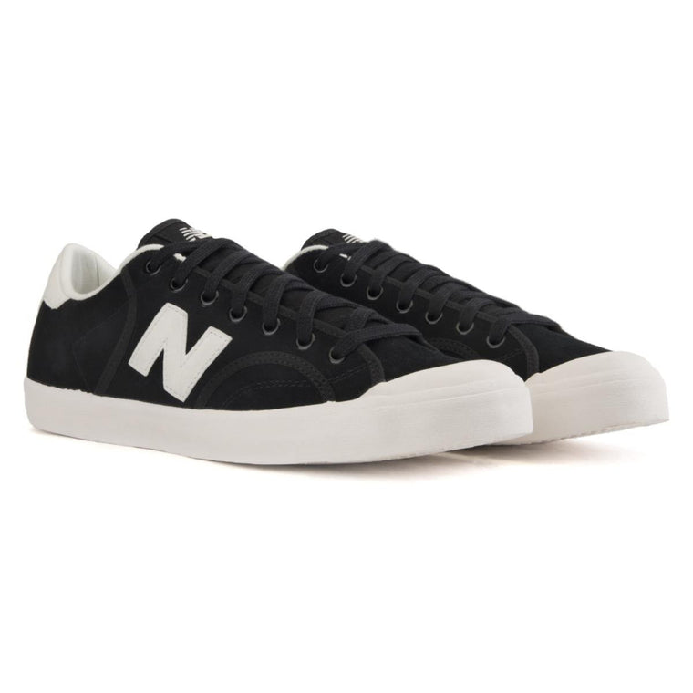 New Balance Unisex: Pro Court Heritage Black Suede Sneaker