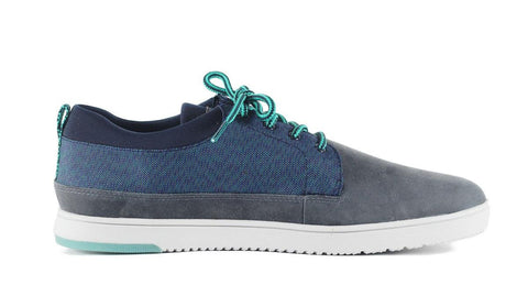 Clae for Men: Gordon Pavement Leather Nylon Canvas Sneaker