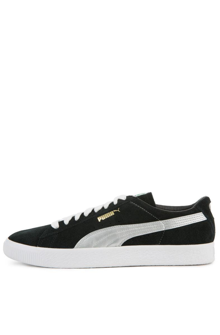The Suede 90681S in Puma Black and Silver