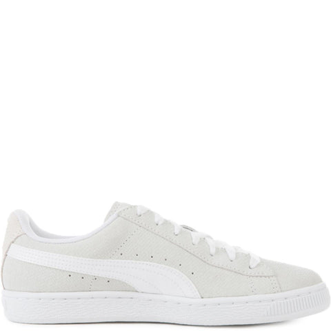 Puma for Women: Basket Remastered White Suede Sneakers
