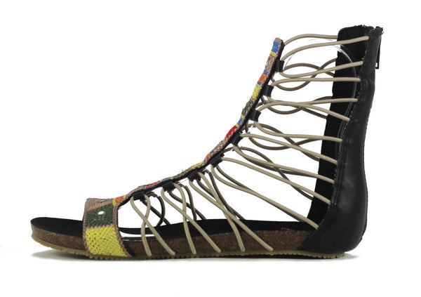 ed129f30185 MIA for Women  Bollywood Black Gladiator Sandal