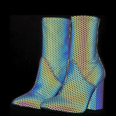 Y.R.U. for Women: Diive Reflective Heel Boots
