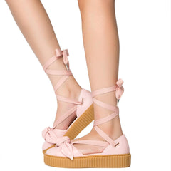 Womens Bow Creeper Sandal