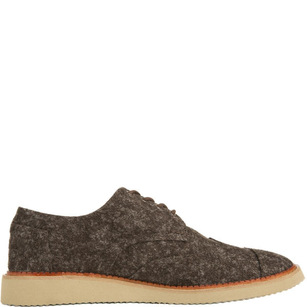 Toms for Men: Brogue Brown Marled Oxfords