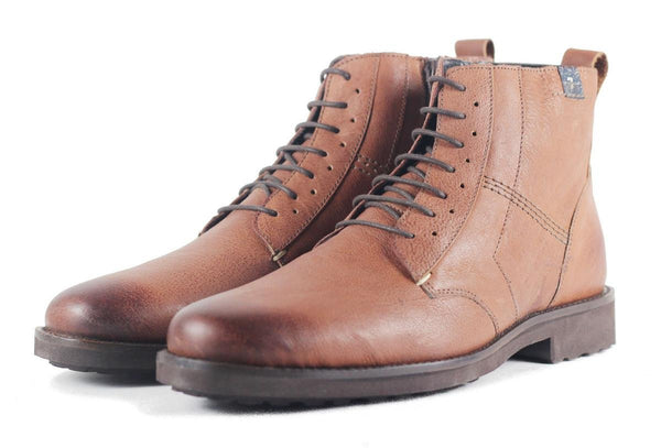 Seven for All Mankind for Men: Indigo Cognac Leather Boot