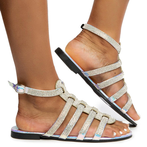 Titus Straps with Rhinestones Sandals