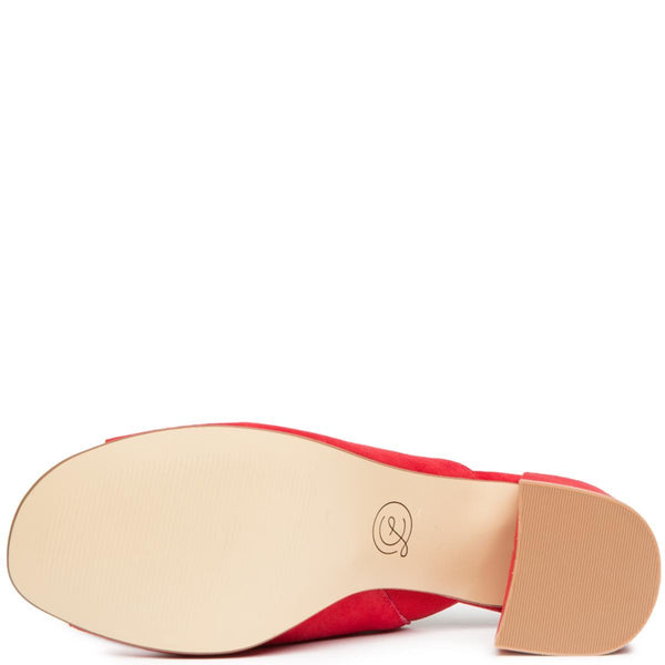 Chinese Laundry Sammy Red Heeled Slide Sandals