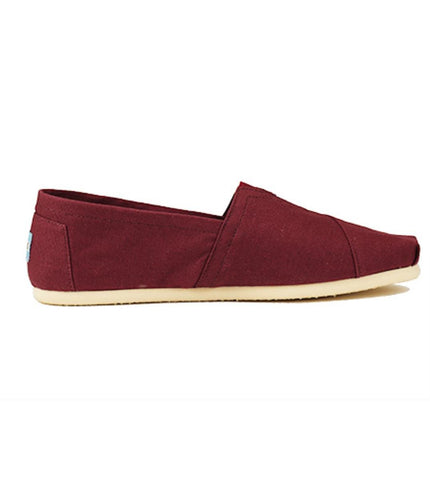 Toms for Men: Classic Red Mahogany Canvas