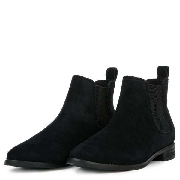 Toms Women's Ella Black Suede Booties
