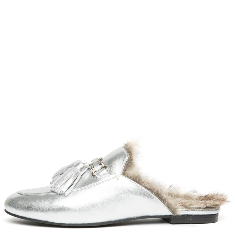 Apfel-TSF2 Silver Mule Loafers