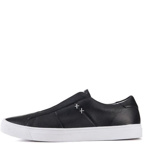 Onitsuka Tiger for Men: Appian Black Leather Sneakers