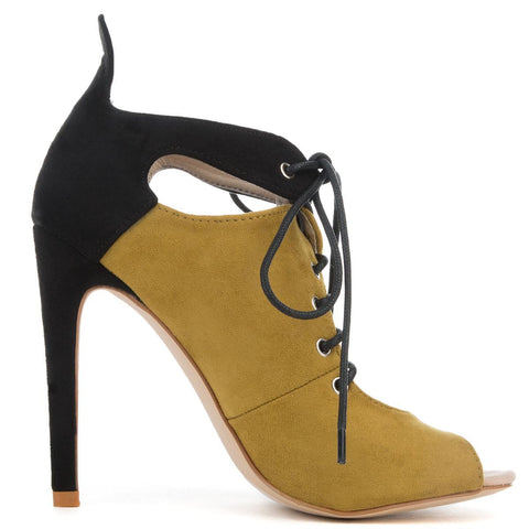 Cape Robbin Blaire-2 Women's Olive Heeled Booties