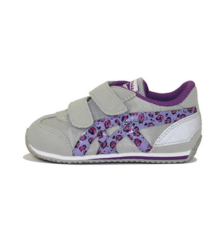 Onitsuka Tiger for Toddlers: California 78 TS Light Grey/Purple Leapard Sneakers