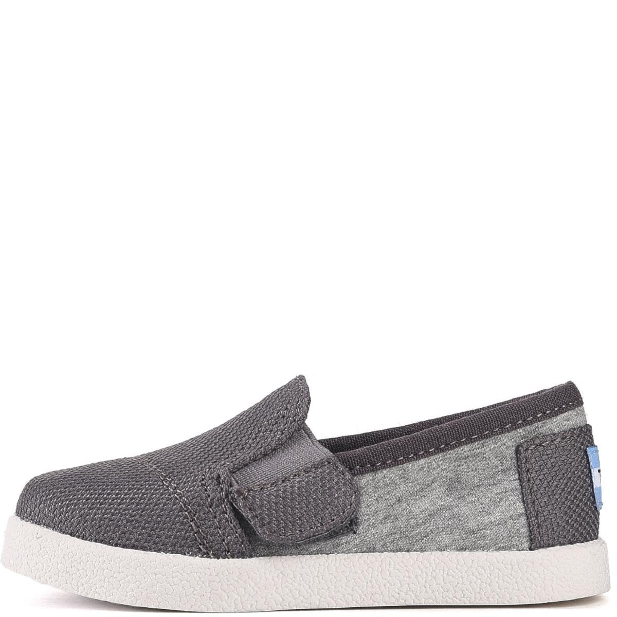 Tiny Toms: Avalon Grey Jersey/Mesh Flats