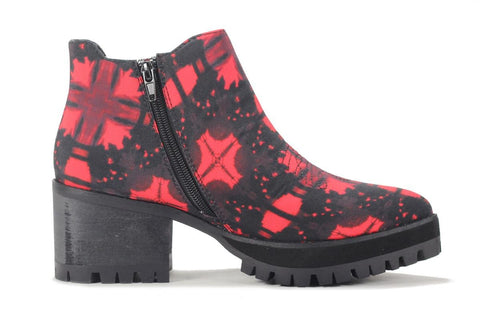 Women's Wolf Red Ankle Booties