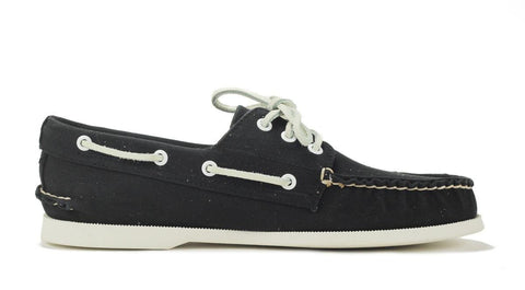 Sperry Topsider: A/O 3 Eye Canvas Black Boat Shoe