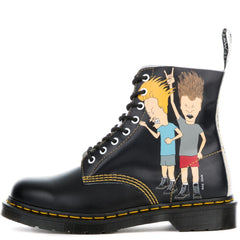 Unisex Beavis & Butt-Head Pascal Black + White Boots