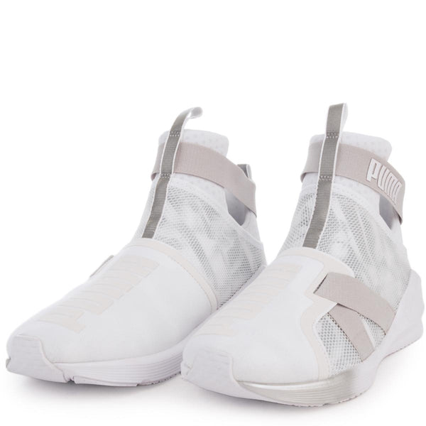Women's Fierce Strap Swan White Sneaker