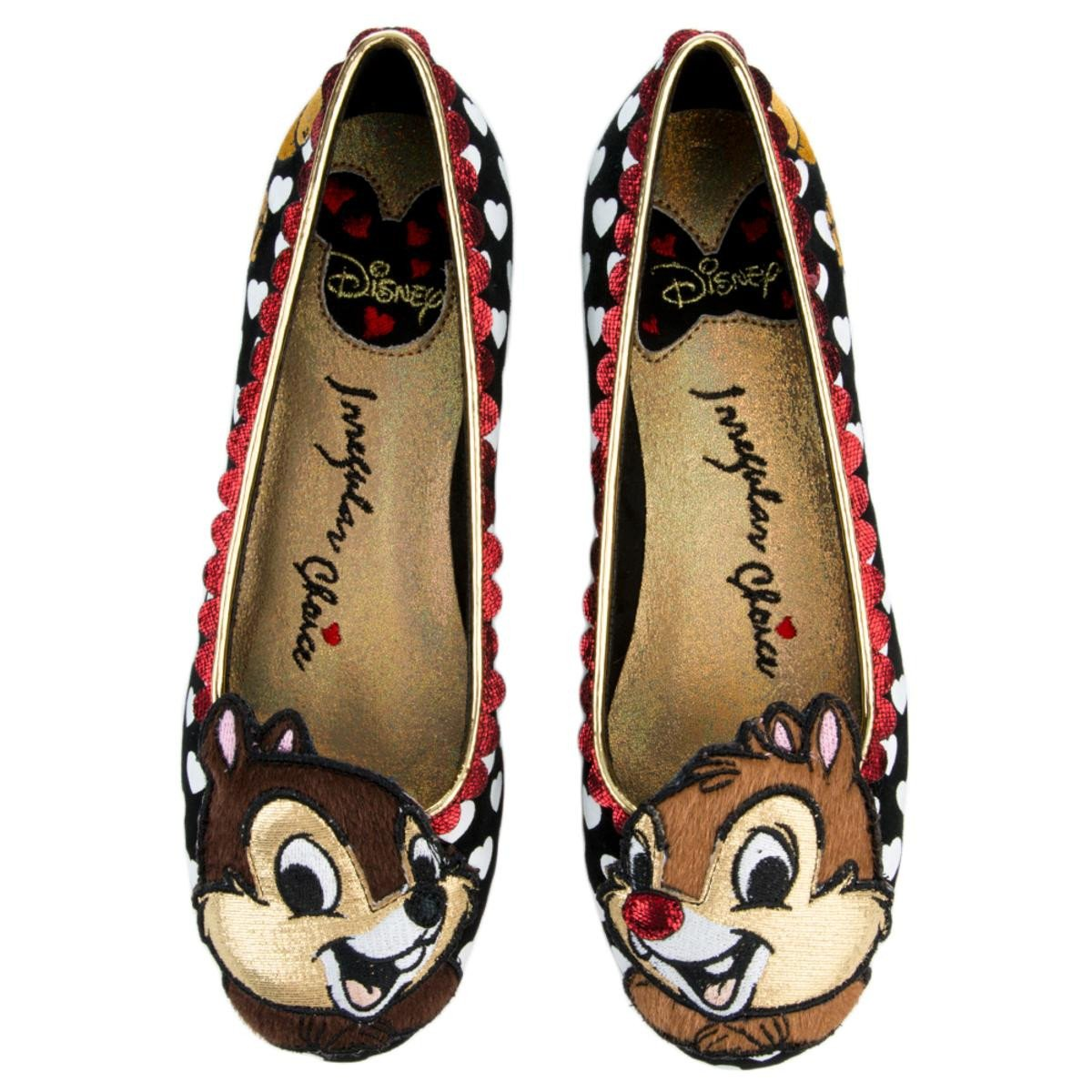 Irregular Choice Mickey Mouse & Friends Collection Women's Chip N Dale Black Flats