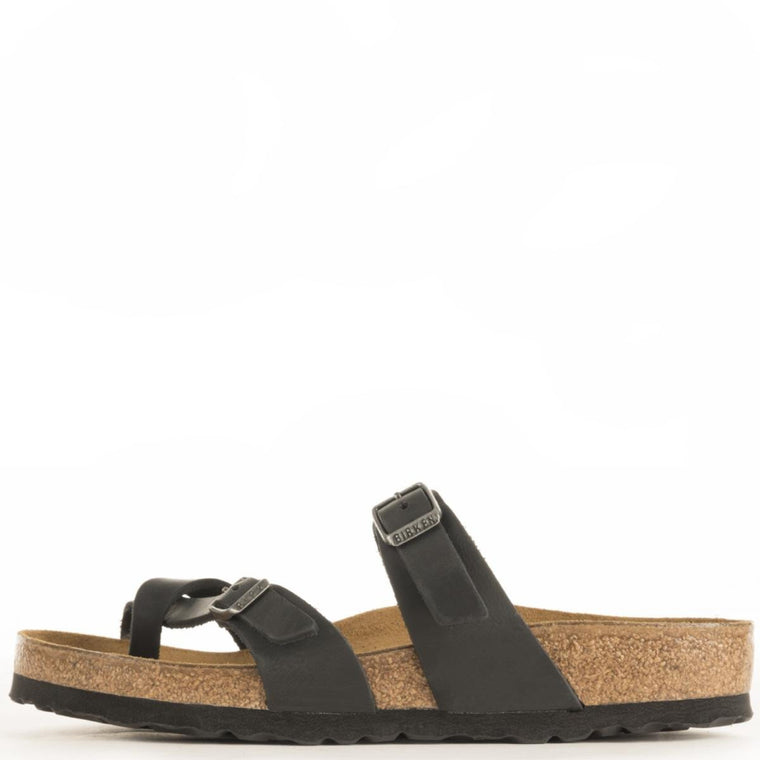 Birkenstock for Women: Mayari Black Oiled Leather Sandal