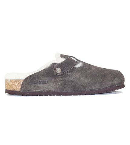 Birkenstock for Men: Boston Fur Suede Mocha Sandal