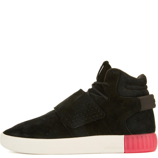 adidas for Women: Tubular Invader Black/Black Strap Sneakers