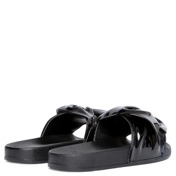 Cape Robbin Moira-72 Women's Black Slides