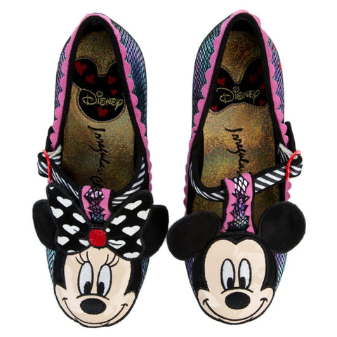 Irregular Choice Mickey Mouse & Friends Collection Women's I Heart Minnie Purple Mid Heel