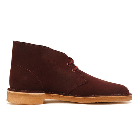 Clarks for Men: Desert Boot Wine Suede