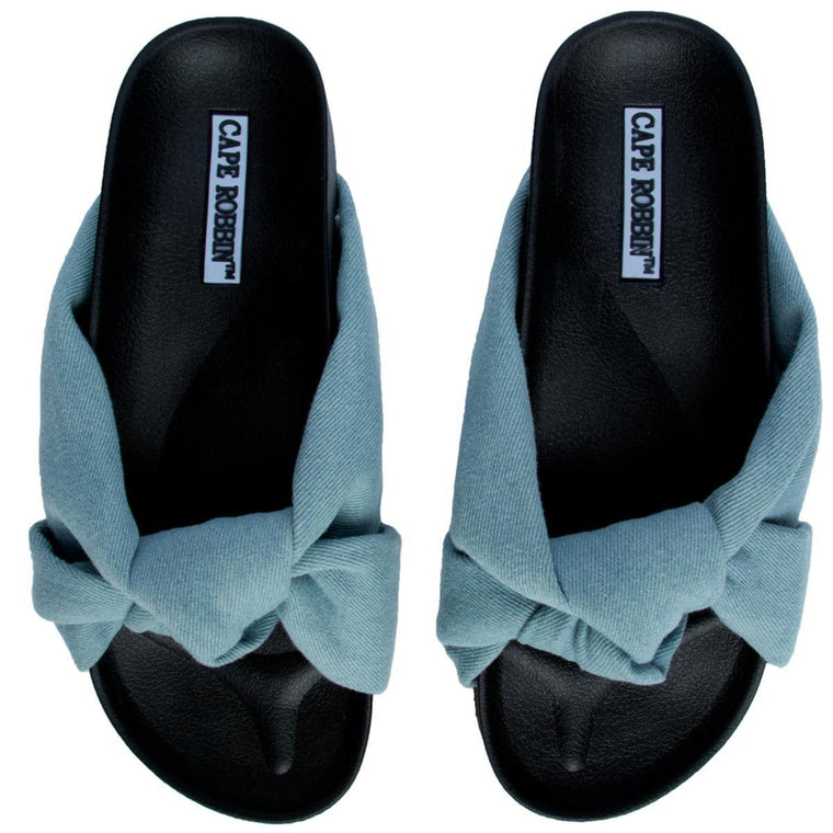 Cape Robbin Moira-35 Women's Denim Sandal