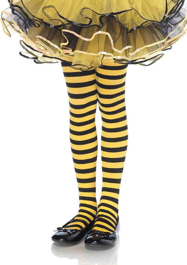 Girl Stripe Tights MEDIUM BLACK/YELLOW