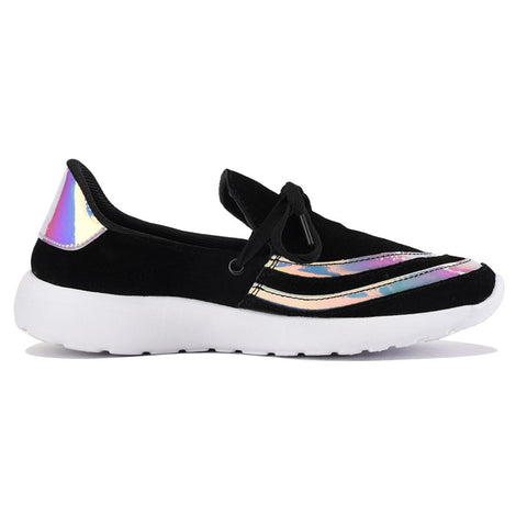 Y.R.U. for Women: Beem Hologram Black Sneaker