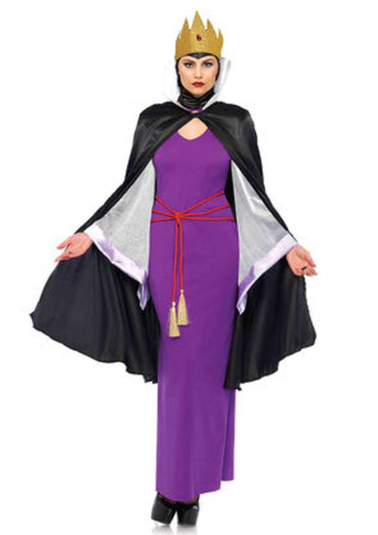 4PC.Deadly Dark Queen,dress,cape,cowl head piece,crown in MULTICOLOR