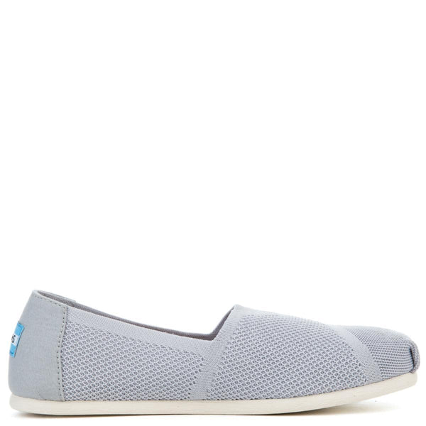 Tom Classic Drizzle Grey Custom Knit Women's Flats