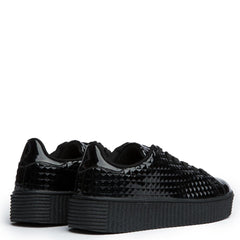 Cape Robbin Izzy-1 Platform Black Women's Sneakers